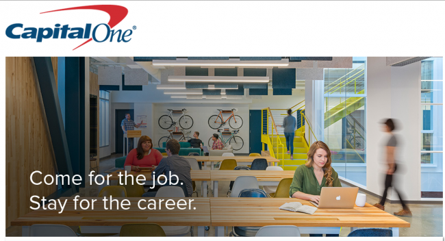 Capital One Careers slogan