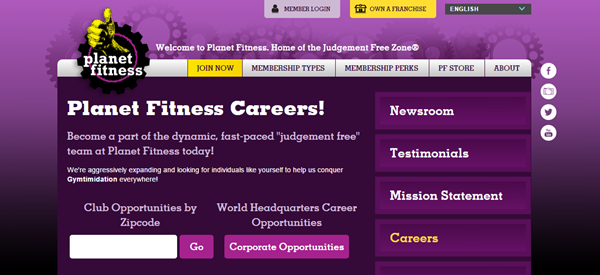Planet Fitness Careers - Planet Fitness Application