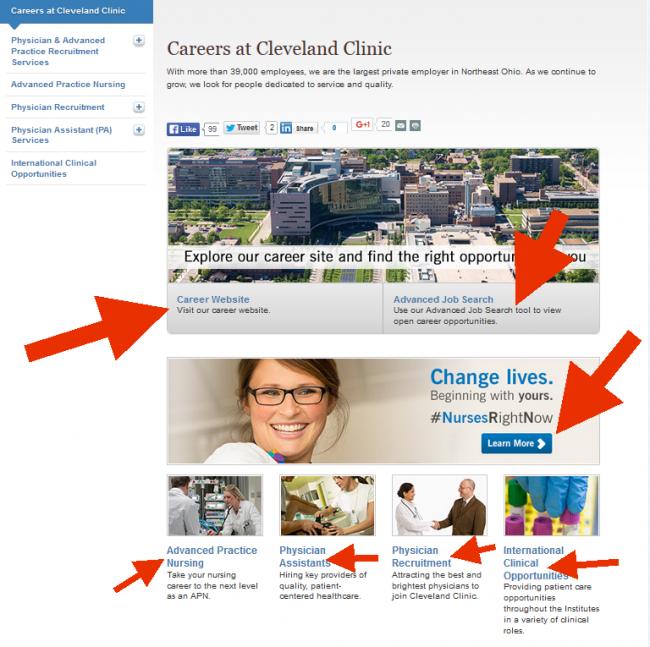 Cleveland Clinic Application - Screenshot 1