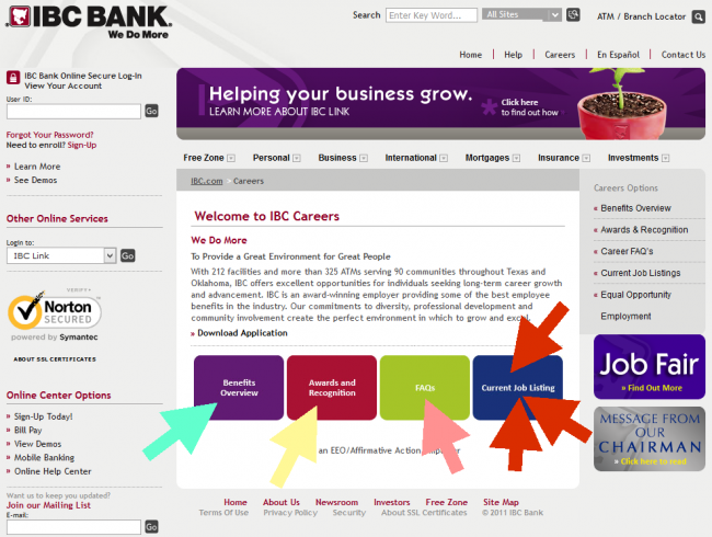 IBC Bank Application - Screenshot 1