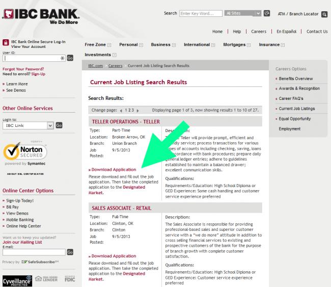 IBC Bank Application - Screenshot 3