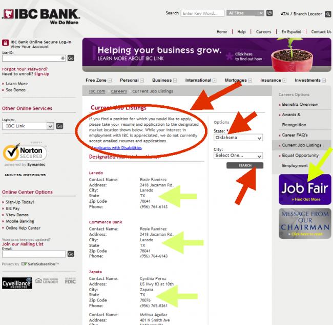 IBC Bank Application - Screenshot 2