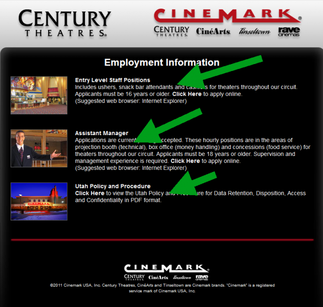 Cinemark Application - Screenshot 3