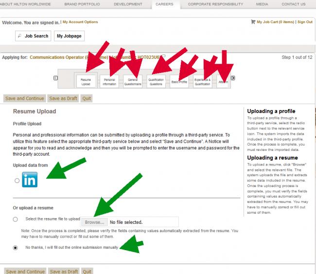 Hilton Hotel Application - Screenshot 4