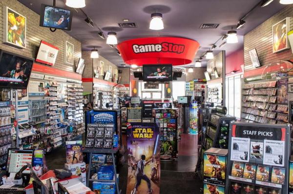 Inside the Gamestop store