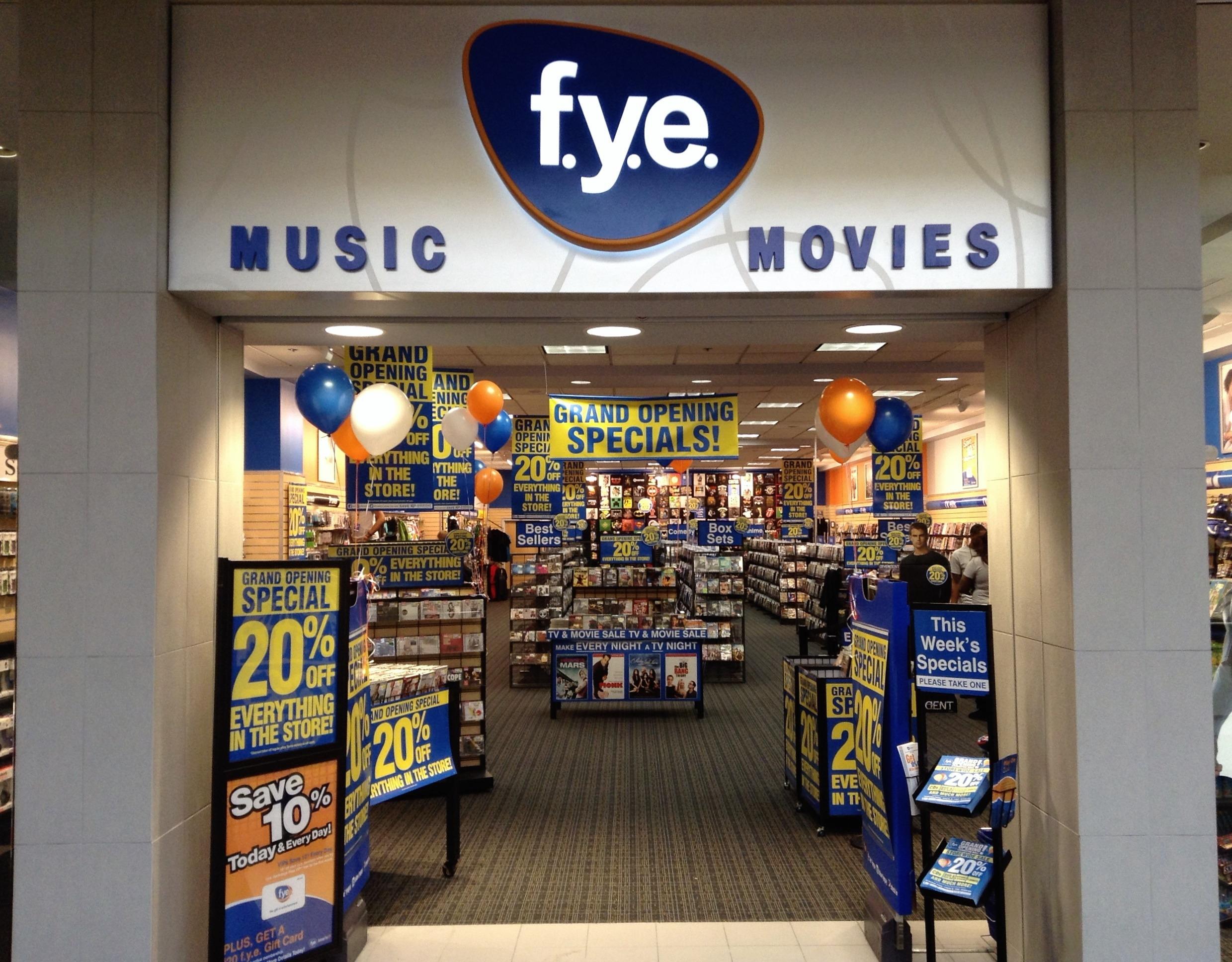 Take a look inside the FYE store!
