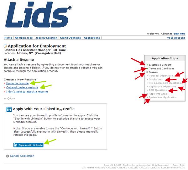 lids application