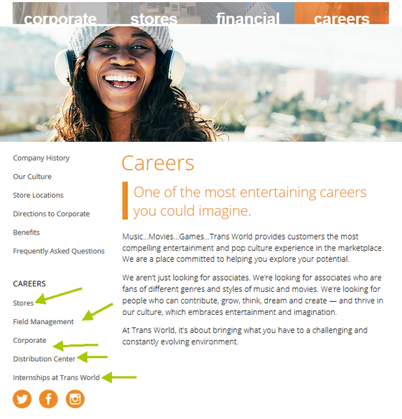 Begin your FYE application process on the Careers portal.