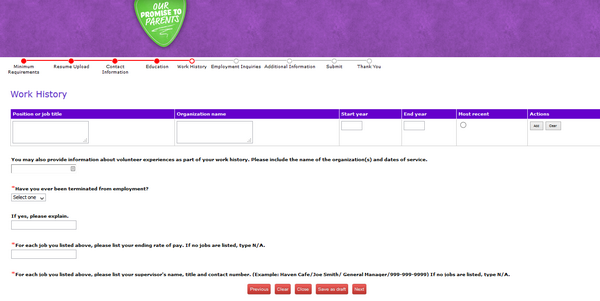 chuck e cheese online application