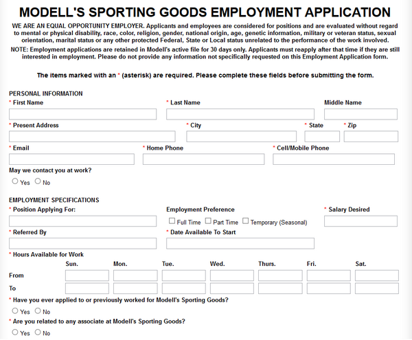 Links to apply for jobs at Modell's are at the bottom of the page. Keep in mind that every facet of the company has its own page with open positions. Morris Modell founded Modell's .