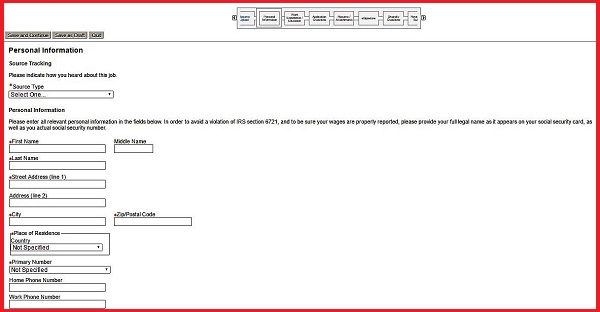 Screenshot of the Personal Information section of the Aflac application form