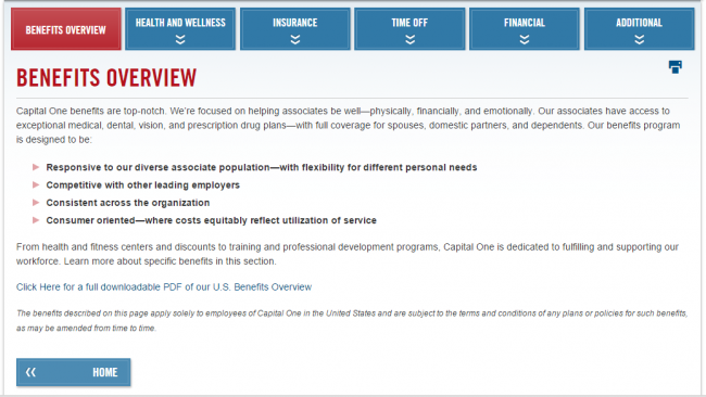 Capital One Application - Explore Jobs
