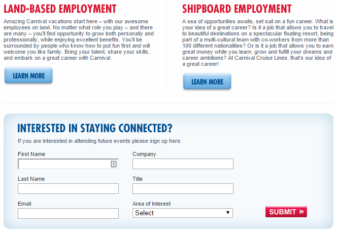 Carnival Cruise Jobs Carnival Cruise Lines Application