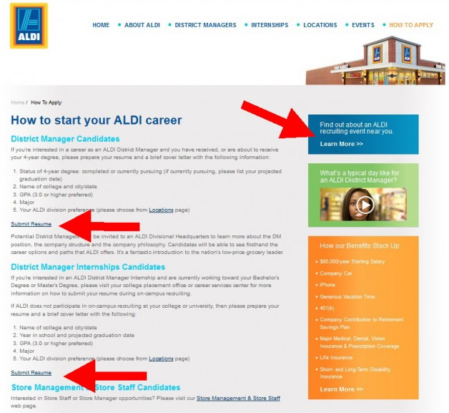 Aldi Career Guide Application 2019