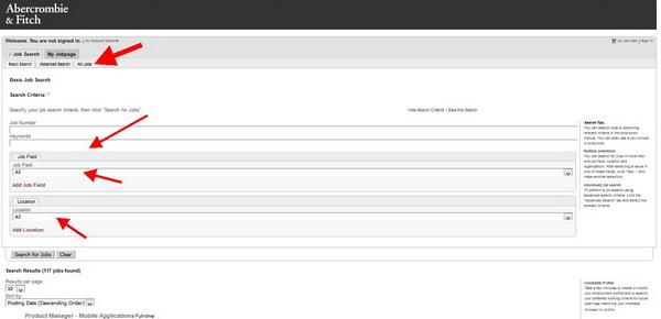 Hollister Application - Screenshot 7