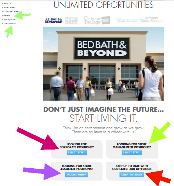 Bed Bath and Beyond Application - Screenshot 1