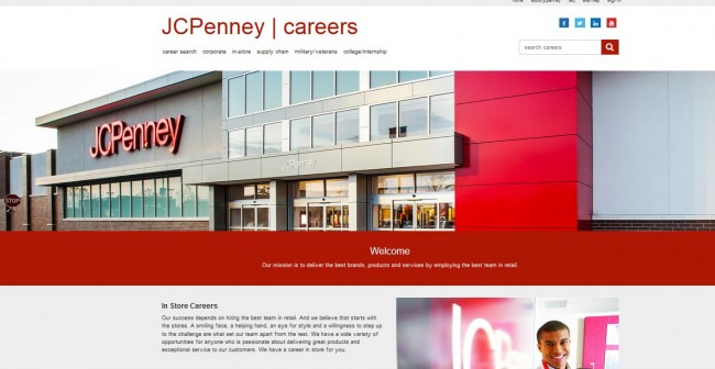 JCPenney job Application - Screenshot 1