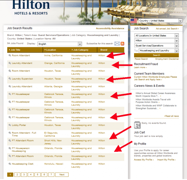 Hilton Hotel Application - Screenshot 2