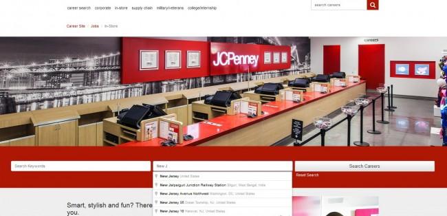 JCPenney job Application - Screenshot 2