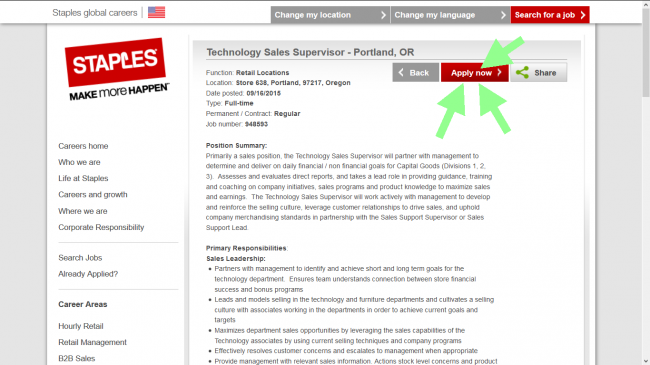 Staples Application - Screenshot 4