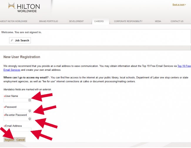 Hilton Hotel Application - Screenshot 3