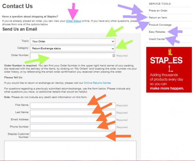Staples Application - Screenshot 1