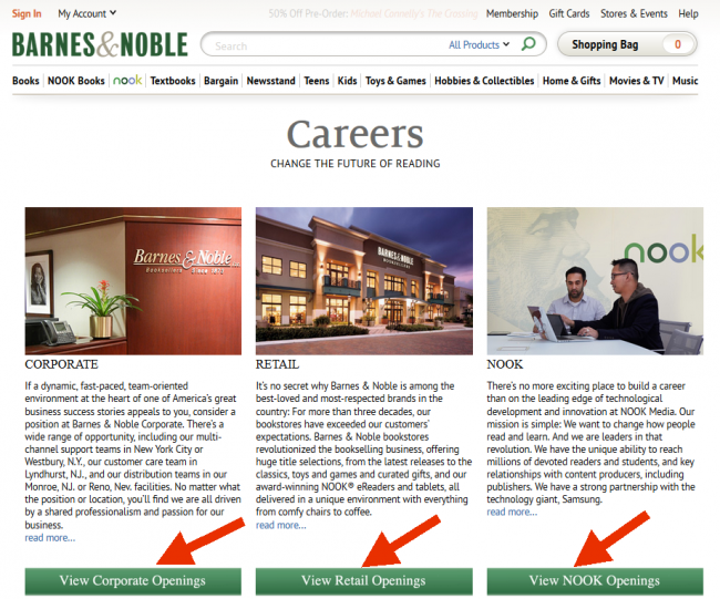 Barnes and Noble Application - Screenshot 1