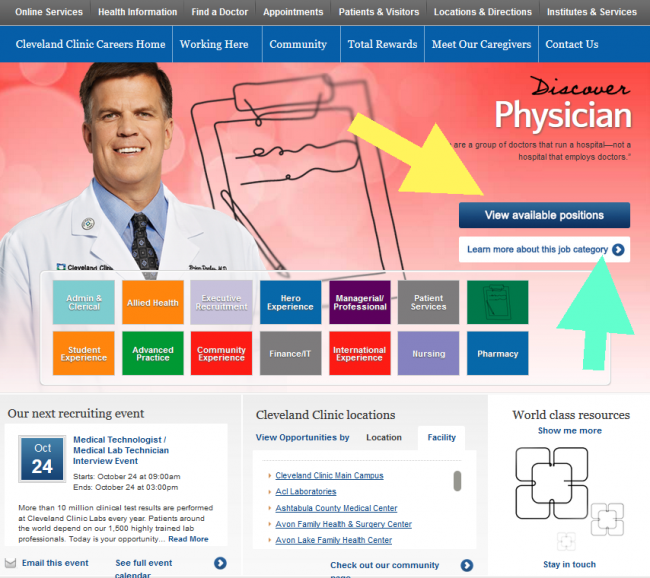 Cleveland Clinic Application - Screenshot 3