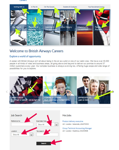 British Airways Application - Browse all the opportunities for British Airways employment On the Ground