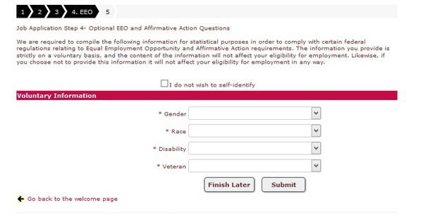 Screenshot of the Jamba Juice application process 6