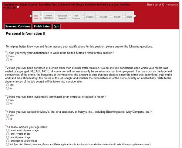 Macys Career Guide Macys Application 2018 Job Application Review