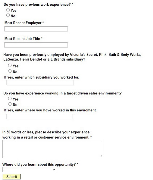 Victoria Secret Career Guide  Victoria Secret Application  Job