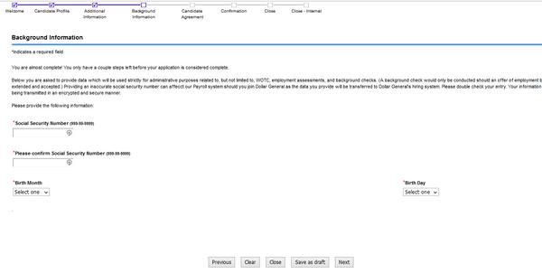 Dollar General Online Job Application