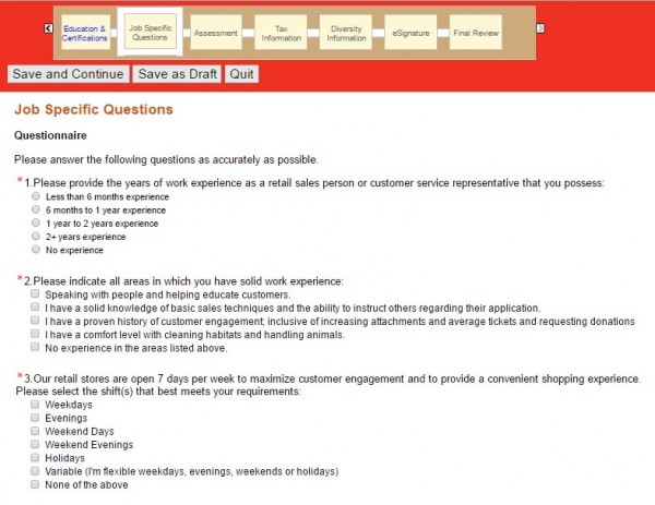 Petco Job Application Career Guide 2018 Job Application Review