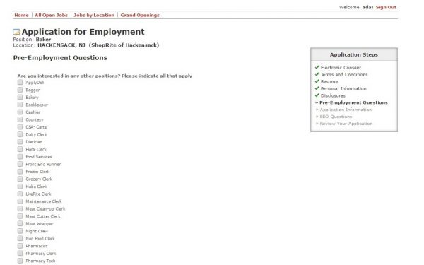 Exceptional Screenshot Of The Shoprite Application Portal To Wakefern Portal