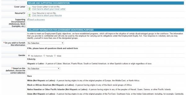 Screenshot of the Allstate application process