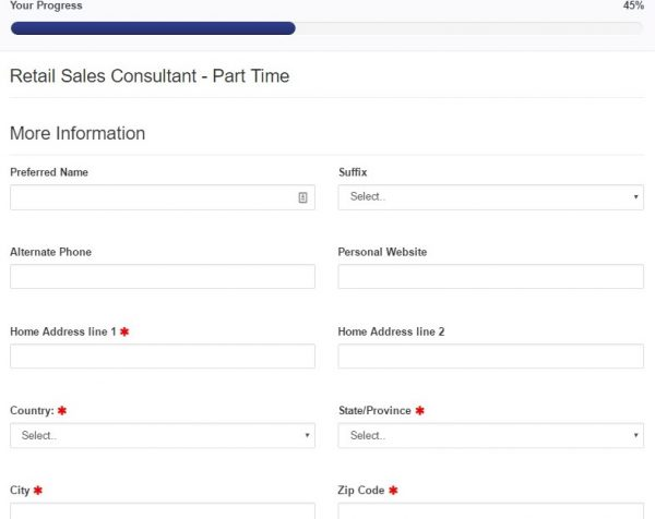 For this section of the Comcast application from, candidates will have to include their contact details.