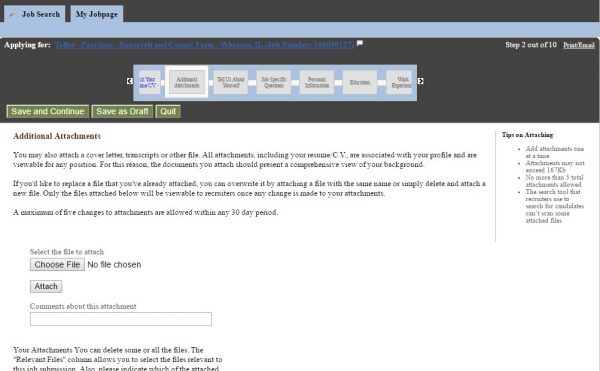 Screenshot of the JP Morgan Application Process