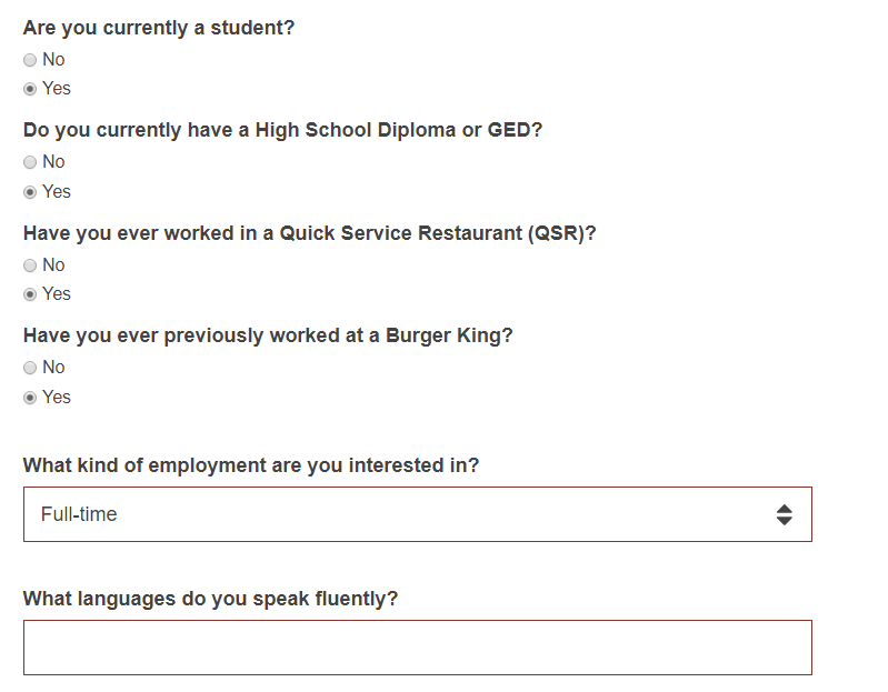 burger king career guide  u2013 burger king job application